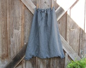 sareoul Thai fisherman linen  skirt/pant or is it a pant/skirt in charcoal grey gray ready to ship