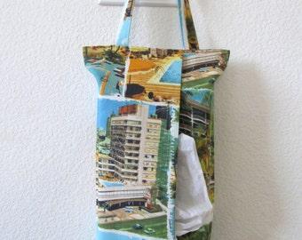 Hanging Tissue Box Cover For Skinny Kleenex/Resort