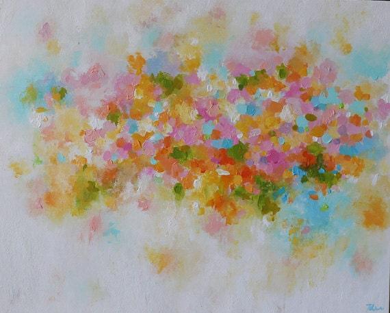 Articles similaires peinture abstraite pastel nuances - Peinture murale couleur pastel ...