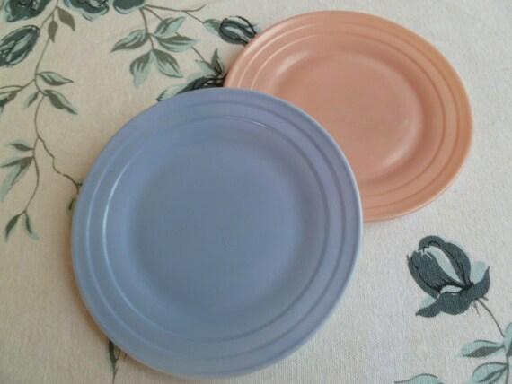 vintage hazel atlas pastel moderntone platonite dishes. Black Bedroom Furniture Sets. Home Design Ideas