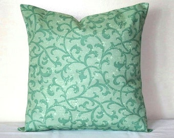Turquoise Damask 18 inch Robert Allen Decorative Pillows Accent  Pillows Throw Pillow Cushion Covers