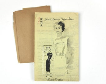 "Vintage Womens Dress Pattern Unused Spadea N1158 Designer Eloise Curtis Size 12 35"" Bust"