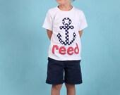 Summer Shirt - Anchor Shirt- Beach Shirt- Personalized Shirt- You Choose Shirt Color and Sleeve Length