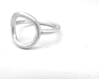 Modern ring Circle ring contemporary ring simple ring sterling silver ring