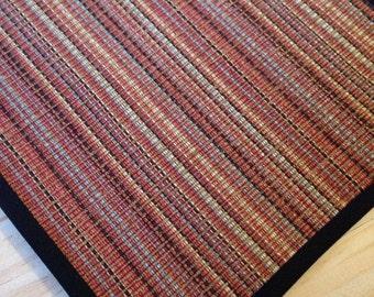 Black Border Multi Color Woven Rug Miniature