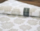 VILLA wrapping paper (oyster, goldenrod, plum)