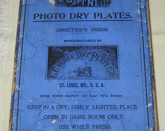 Vintage - Antique - G. Cramers Dry Photo Dry Plates (set of 15) - FREE SHIPPING!