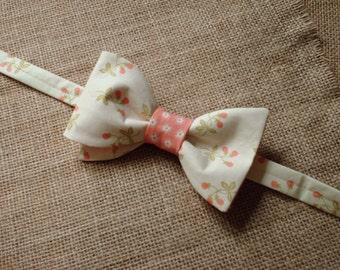 Handmade Pre Tied Style Bow Ties / Wedding Bow Ties / Country wedding / Cotton Floral Bow Ties / Handmade Bow Ties