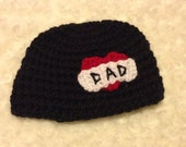 Ready to ship tattoo Dad hat.....Size 3 months to 6 months