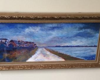 Original Acrylic Painting - Bowers Beach Evening