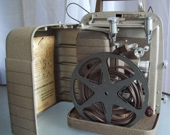 Bell & Howell Movie Projector with Reel, Fan and Light in Working Condition, Vintage Camera, Photography