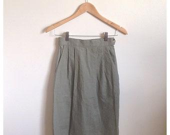 Vintage high waisted pencil skirt