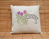 Vermont/Red Clover State Pillow