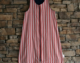 18-24 month sleep sack in blue and red star stripe