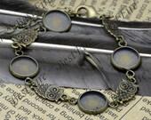 5pcs of Fit Round Cabochon size 12mm,Antique Brass Adjustable bracelet Base,round blank pad,bangle findings,bracelet findings
