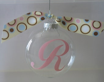 Personalized Christmas Ornament - Initial
