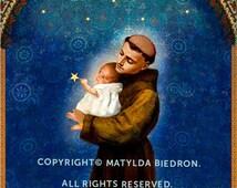 Saint Anthony Holy Card