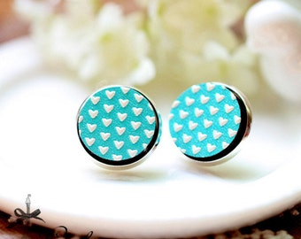 20% off -NEW Unique 3D Embossed Heart 16mm Round Handmade Wood Cut Cabochon to make Rings, Earrings, Bobby pin,Necklaces, Bracelets-(WG-266)