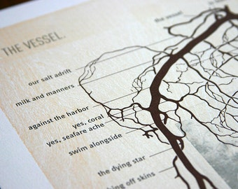 The Vessel - Letterpress Broadside