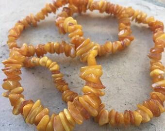 Butterscotch Amber Beads, Amber Chips, Amber Beads, Butterscotch Amber, 24 inches, 6 to 12mm