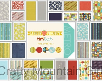 Garden Project Fat Quarter Bundle by Tim Beck for Moda