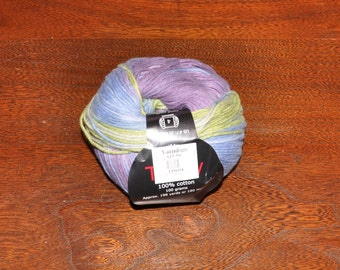 Knit One Crochet Too Ty-Dy Cotton Yarn - 672 Blue Pansy