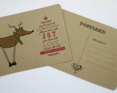 Holiday Postcards - Joy Reindeer - set of 8
