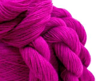 Knitting Yarn, 2 Ply Acrylic Yarn, Vintage Yarn, Red Violet Commercial Yarn, Crochet Thread, DIY Supplies, 4 skein; Y132