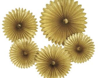 Gold Tissue Rosette Kit - Set of 5