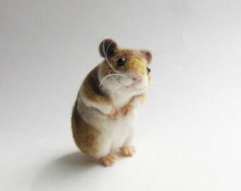 Needle felted hamster