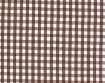 1/8″ Chocolate Brown Gingham Fabric