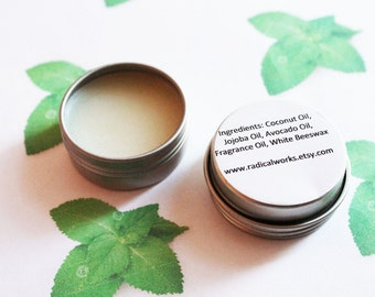 Spearmint Solid Perfume - Scented Natural Perfume - Cologne - Perfume Samples - Coconut Oil - Avocado Oil - Beeswax