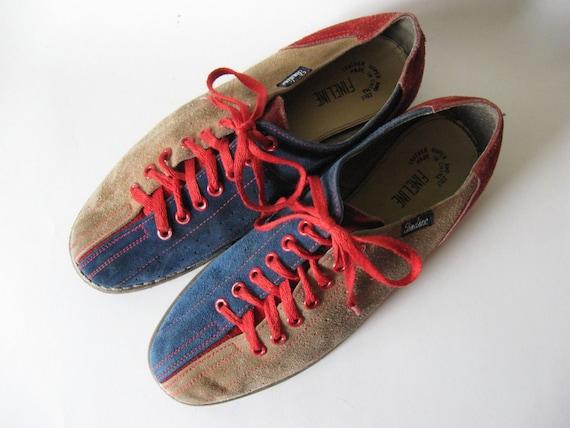 Stylin' 90s vintage suede bowling shoes unisex men's 7