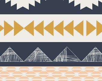 Art Gallery Farics Arid Horizon, ARIZONA, Cotton Quilt Fabric, Quilting, Aztec, Tribal Stripe, Geometric, April Rhodes, Fabric By the Yard