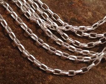 Sterling Silver Necklace Rolo Chain - Finished 18 INCH - 1.5mm SS - .925 - CH120