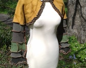 Elegant elven shrug from recycled sweaters by SpiralGypsy Size XS - Ready To Ship