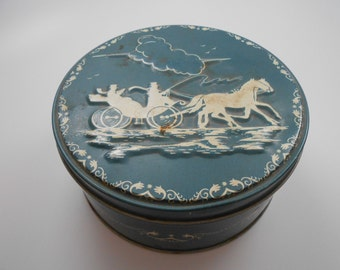 CLEARANCE! Vintage Tin with Horse and Carriage Design-Clearance