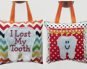 Kid's Rainbow Tooth Fairy Pillow, Boy's Tooth Fairy Pillow, Girl's Tooth Fairy Pillow, Rainbow Chevron, Personalized Tooth Fairy Pillow