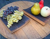tray from reclaimed wine barrel three staves