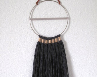 Fiber Hoop Art Wall Hanging