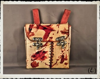 Leather pouch / bag - Flayed -