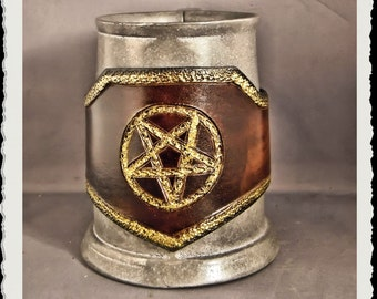Leather tankard wrap - free shipping -