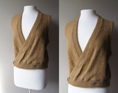 Vintage Wool Sweater Vest Mohair Sweater Wrap Sweater Sleeveless Sweater Camel Sweater Small Sweater Medium Sweater Ballet Sweater Pull Over