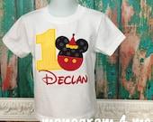 Mickey Mouse birthday shirt bodysuit - Party hat - Disney Shirt