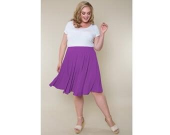 Full Circle Skirt Matte Jersey Sizes 2-28
