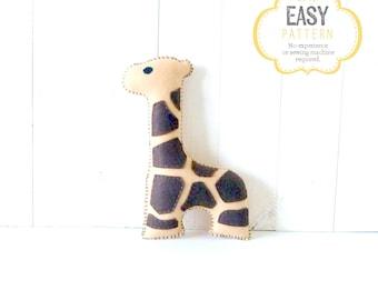 Giraffe Stuffed Animal Sewing Pattern, Plush Giraffe Pattern, Felt Giraffe Sewing Pattern, Giraffe Softie, Giraffe Stuffie
