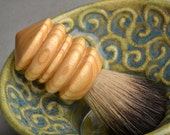 Shaving Brush Ready To Ship Pure Badger Hair Shave Brush by Symmetrical Pottery