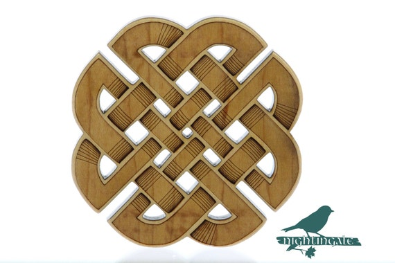 Celtic Knot Coaster, Baltic Birch, Laser Cut