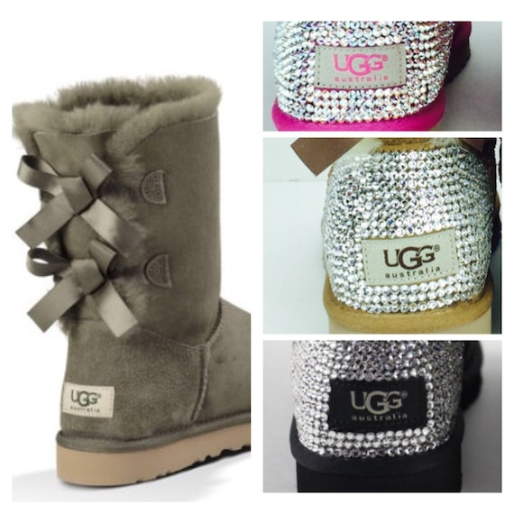 items similar to custom ugg boots made with swarovski