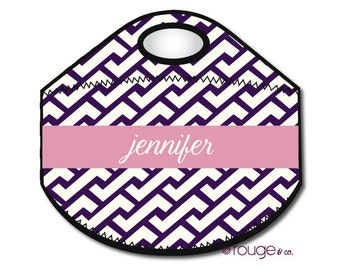 ZIG ZAG monogrammed lunch tote - with customizable pattern and monogram